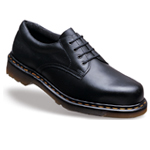 Icon Black Leather Ankle Safety Shoe (6734)