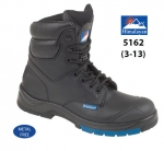 Black Leather Combat Safety Boot (5162)