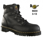 Heritage Black Greasy Leather Safety Boot (6630)