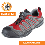 4206 HALCON Red/Grey Safety Trainer