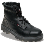 Black Leather Safety Boot (1100)