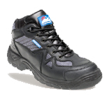Black/silver Safety Cross Trainer Shoe (4010)