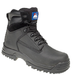 CLEARANCE Black Leather Safety Boot (5202)