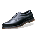 Icon Black Leather Lace Padded Ankle Safety Shoe (6735)