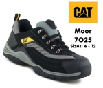 7025 Moor Black/silver Pu/nubuck Lightweight Trainer
