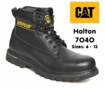 7040 Holton Black Leather Safety Boot