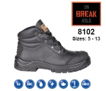 8102 Black Leather Chukka Safety Boot