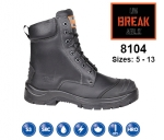 8104 Black Leather Combat Safety Boot