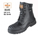 8105 Black Waterproof Combat Safety Boot