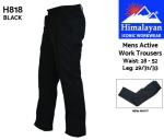 Active Work Trousers Mens Black (H818)