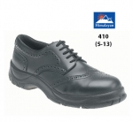 Black Leather Brogue Safety Shoe (410)