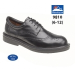 Black Leather Brogue Executive Safety Shoe (9810)