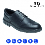 Black Leather Brogue Safety Shoe (912)