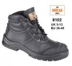 8102 Black Leather Chukka Safety Boot
