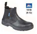 Black Leather Dealer Safety Boot (151B)