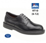 Black Leather Formal Safety Shoe (9710)