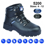Black Leather Fully Waterproof Safety Boot (5200)
