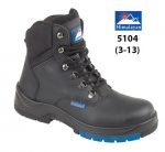 Black Leather Hiker Boot (5104)