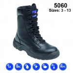 Black Leather High Cut Safety Boot (5060)