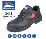 Black Leather SMS Safety Shoe (3413)