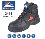 Black Leather SMS Safety Boot (3414)