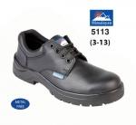 Black Leather Safety Shoe (5113)