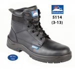 Black Leather Safety Boot (5114)