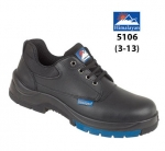 Black Leather Safety Shoe (5106)