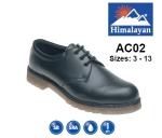 Black Leather Safety Shoe (AC02)