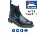 Black Leather Safety Dealer Boot (AC03)