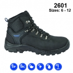 Black Leather Safety Hiker Boot (2601)