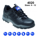 Black Leather Safety Trainer (4020)