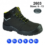 Black Leather Safety Boot (2603)