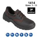 Black Leather Safety Shoe (1414)