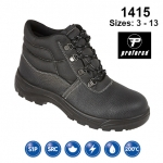 Black Leather Safety Boot (1415)