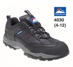 Black Leather/nylon Safety Trainer (4030)
