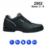 Black Microfibre Lace Safety Shoe (2502)