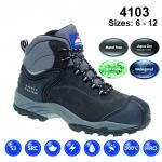 Black Nubuck Safety Boot (4103)
