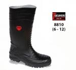 Black Pvc Safety Wellington (8810)