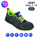 Black #FlyKnit Safety Trainer (4341)