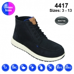Black #Vintage Nubuck Sneaker Safety Boot (4417)