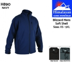 Blizzard Soft Shell Navy Mens (H890)