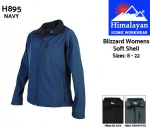 Blizzard Soft Shell Navy Womens (H895)