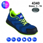 Blue #FlyKnit Safety Trainer (4340)