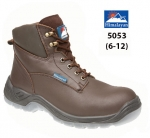 Brown Full Grain Leather Safety Boot (5053)