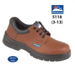 Brown Leather Safety Shoe (5118)