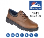 Brown Leather Safety Shoe (1411)