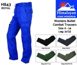 Bullet Combat Trousers Womens Royal (H843)