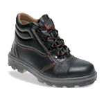 Black Leather Safety Boot (C001)