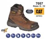 CAT SPIRO Brown Waterproof Safety Boot (7057)